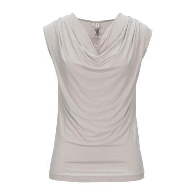 EUROPEAN CULTURE T シャツ ベージュ XL レーヨン 95% / ポリウレタン 5% T シャツ