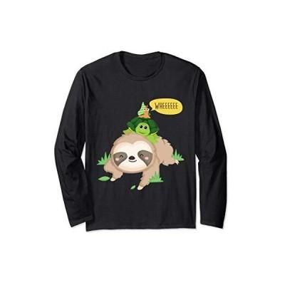 ナマケモノ カメ カタツムリ 面白い 怠惰な動物 長袖Tシャツ