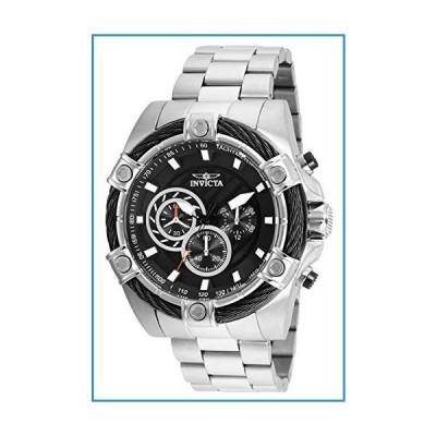 新品Invicta Men's Bolt 52mm Steel Bracelet & Case Quartz Black Dial Analog Watch 25512【並行輸入品】