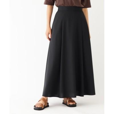 OPAQUE.CLIP / STANDARD キバンチ T/Wツイル ロングフレアスカート【イージーケア】 WOMEN スカート > スカート