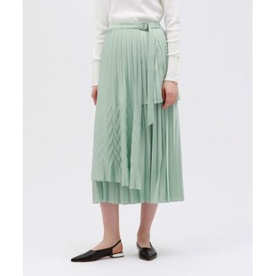 【ラブレス】 プリーツ ラップスカート レディース グリーン 34 LOVELESS