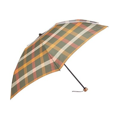 [ムーンバット] MAXIME LABEYRIE(マキシム ラベリ) 婦人折りたたみ傘 先染めチェック柄 レディース オリーブグリーン 日本 親骨の長
