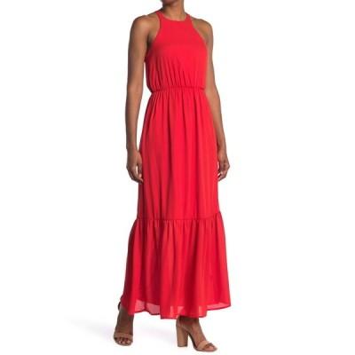 エヌ・エス・アール レディース ワンピース トップス Gwen Halter Neck Maxi Dress TANGERINE