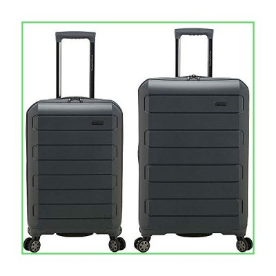 【全国送料無料】Traveler's Choice Pagosa Indestructible Hardshell Expandable Spinner Luggage, Gray, 2-Piece Set (22/26)【並行輸