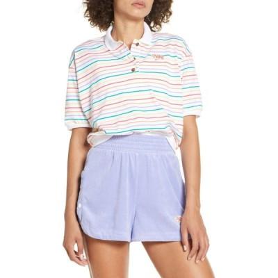 ナイキ NIKE レディース ポロシャツ トップス Sportswear Retro Stripe Polo White