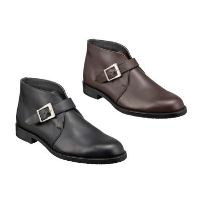 【防滑ソール】REGAL リーガル 42NRBD4 ストラップブーツ ブラック・ダークブラウン メンズ  ビジネスシューズ 靴 ゴアテックス 雪道 冬底