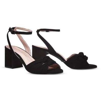 ヒール付け替え可能サンダル/婦人靴 〔Black Twirl/Super Block 7cm ブラック 36(23cm相当)〕 Mime et moi ミミ・エ・モイ〔代引不可〕
