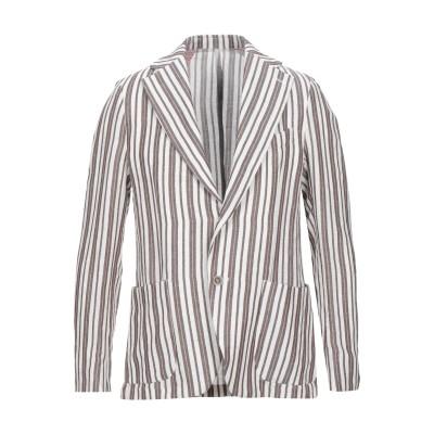 PRIMO EMPORIO テーラードジャケット ホワイト 46 リネン 50% / レーヨン 50% テーラードジャケット