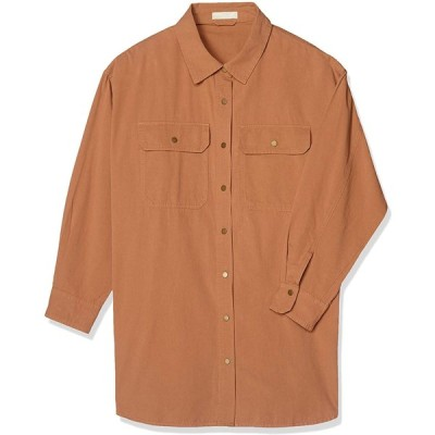 [フリーズマート] ブラウス オーバーサイズワークシャツ レディース ブラウン 日本 FR (FREE サイズ)
