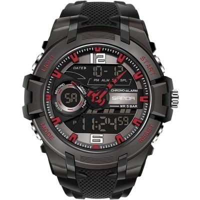 RORIOS watch 腕時計 メンズ 50M防水 デジタル表示 カレンダー 樹脂ストラップ 多機能 耐衝撃性 日本製 クオーツ スポーツ ウオッチ
