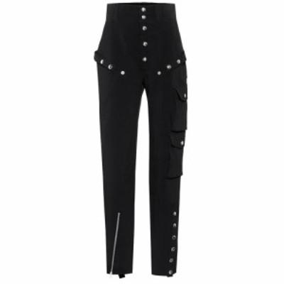 ミュグレー Mugler レディース ボトムス・パンツ Embellished high-rise pants Black