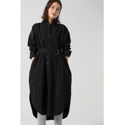 ROSE BUD/ローズ バッド ロングテールシャツドレス ブラック -