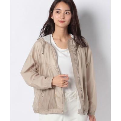 【レリアン】 フード付きジップジャケット レディース ベージュ系 9 Leilian