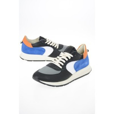 PHILIPPE MODEL/フィリップ モデル Multicolor メンズ Fabric and Suede Leather MONTECARLO Sneakers dk