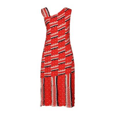 TABULA RASA 7分丈ワンピース・ドレス 赤茶色 M コットン 100% 7分丈ワンピース・ドレス
