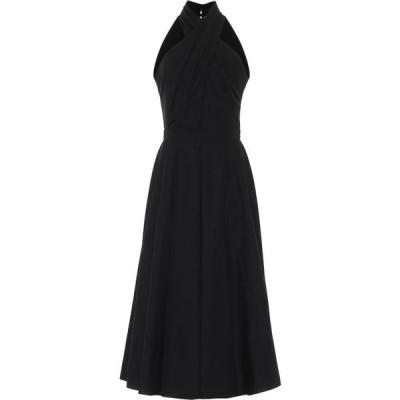 アレキサンダー マックイーン Alexander McQueen レディース パーティードレス ミドル丈 ワンピース・ドレス Halterneck Cotton Midi Dress Black