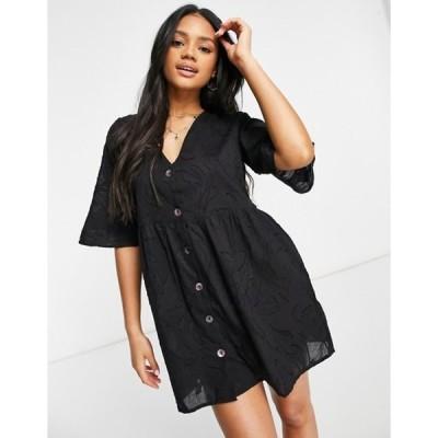 インフルエンス レディース ワンピース トップス Influence burnout beach dress in black