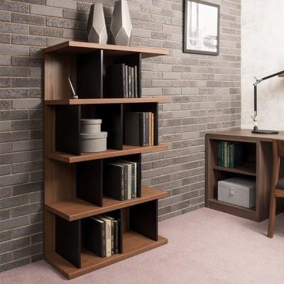 本棚 ウッドシェルフ モダンデザイン ハイタイプ TAU-SHELF 幅80cm ( 書棚 収納棚 オープンラック 多目的ラック シェルフ )