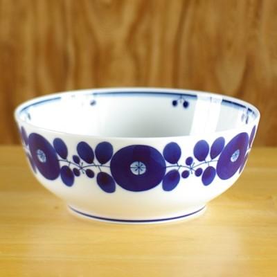 白山陶器(波佐見焼) BLOOM ブルーム ボウル LL 21.5cm サラダボウル 大鉢 盛り鉢 どんぶり 北欧風 手描き花柄