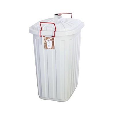 ぼん家具 日本製 ダストボックス 屋外 屋内 ふた付き 大容量 ごみ箱 ロック付き ごみ入れ 箱 60L ホワイト