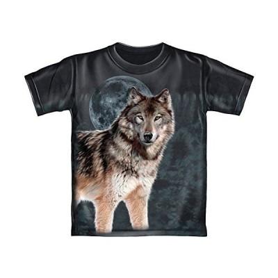 ウルフミッドナイトムーン タイダイ 大人用Tシャツ US サイズ: X-Large
