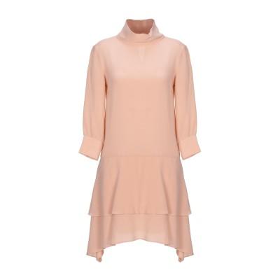 ツインセット シモーナ バルビエリ TWINSET ミニワンピース&ドレス サンド 38 シルク 100% ミニワンピース&ドレス