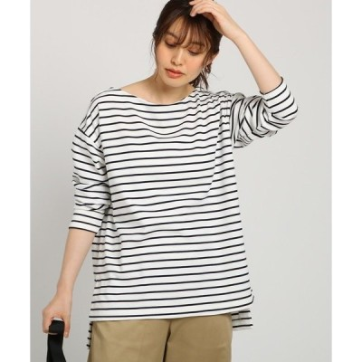 tシャツ Tシャツ 【XS~Lサイズあり・洗える】コットン混ポンチボーダープルオーバー