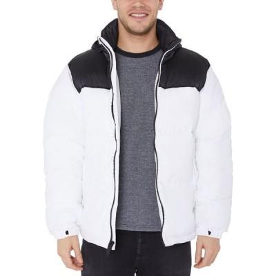 ハリファックス Halifax メンズ ダウン・中綿ジャケット アウター Colorblocked Puffer Jacket White