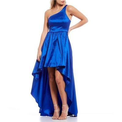 ビーダーリン レディース ワンピース トップス One-Shoulder Back-Strap Taffeta Long High-Low Dress