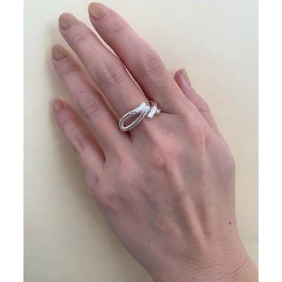 指輪 S925 Double line irregular ring