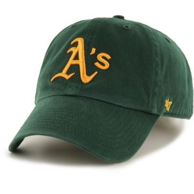 フォーティセブン 47 メンズ キャップ 帽子 Oakland Athletics Clean Up Green Adjustable Hat