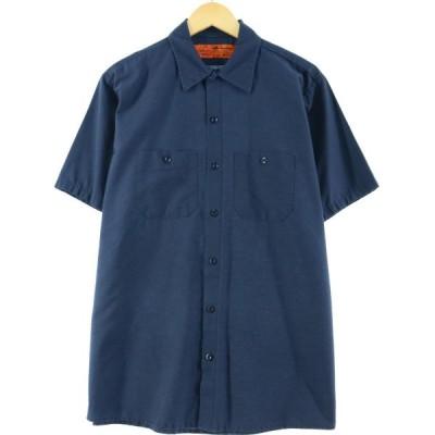 レッドキャップ Red kap 半袖 ワークシャツ メンズL /eaa016466