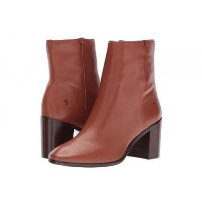 Frye フライ レディース 女性用 シューズ 靴 ブーツ アンクルブーツ ショート Julia Bootie - Cognac Soft Nappa Lamb