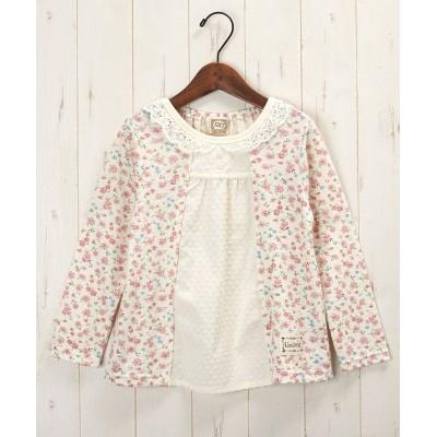 UZULAND 小花柄重ね着風Tシャツ(女の子 子供服) (Tシャツ・カットソー)Kids' T-shirts