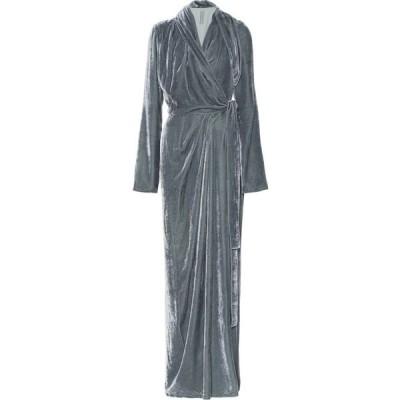 リック オウエンス Rick Owens レディース パーティードレス ワンピース・ドレス Velvet wrap gown Blu