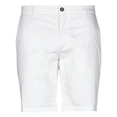 ロイ ロジャース ROŸ ROGER'S バミューダパンツ ホワイト 34 コットン 97% / ゴム 3% バミューダパンツ