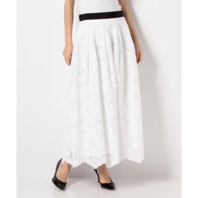 en recre 【Le mien】コットンレーススカート(オフホワイト)【返品不可商品】