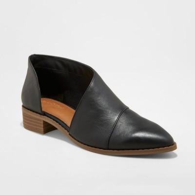 ユニバーサルスレッド Universal Thread レディース ブーツ シューズ・靴 Wenda Faux Leather Wide Width Cut-Out Fashion Bootie - Black