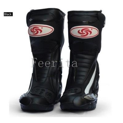 ライダー ブーツ バイク用 メンズ レーシング バイカー 長筒靴 ブーツ シューズ ロング 靴 カッコイイ プロテクター 通気性 LT-1655