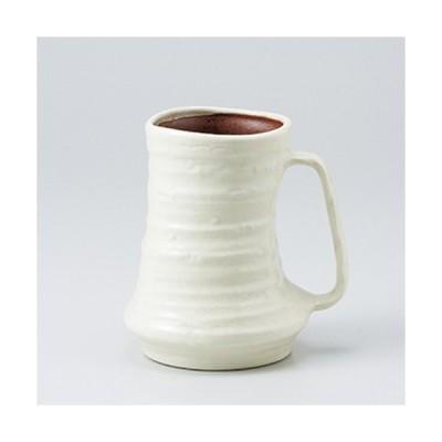 フリーカップ 和食器 / 白釉ジョッキ 寸法:10.5 x 13.3cm ・ 580cc