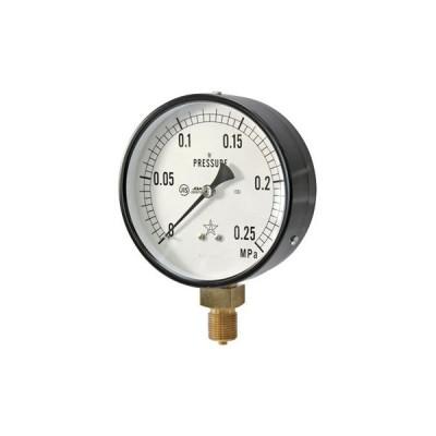 一般蒸気用圧力計 右下精器製造 G411-211-M-0.25MP