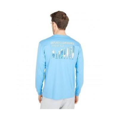Southern Tide メンズ 男性用 ファッション Tシャツ Skipjacks Surfboards Long Sleeve T-Shirt - Boat Blue