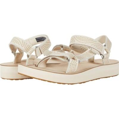 テバ Teva レディース サンダル・ミュール シューズ・靴 Midform Universal Geometric White Swan