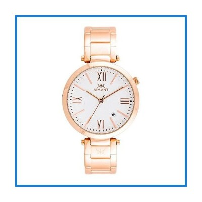 (輸入品)AIMANT Women's Bora Rose Gold with Rose Gold Stainless Steel Bracelet Watch LBO-120SRG-7RG