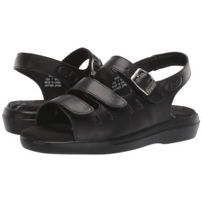 プロペット Propet レディース サンダル・ミュール シューズ・靴 Breeze Walker Black Grain