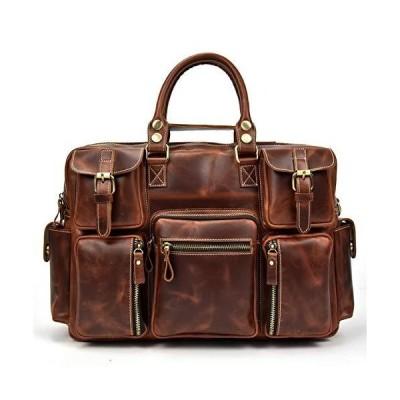 ビジネスバッグ 本革 メンズ 大容量 トラベルバッグ 16インチPC収納 機能性 旅行鞄 高級本革 ブリーフケース 鞣しレザー 手提げバッグ