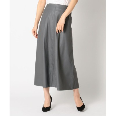 (Mew's/ミューズ)エコレザースカート/レディース グレー系