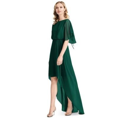 ジェニー・パッカム ワンピース トップス レディース Flutter-Sleeve High-Low A-Line Dress Hunter Green