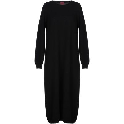 ALYKI 7分丈ワンピース・ドレス ブラック 46 ウール 70% / カシミヤ 30% 7分丈ワンピース・ドレス