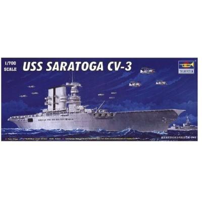 Trumpeter 1/700 USS Saratoga CV3 Aircraft Carrier Model Kit プラモデル 模型 モデルキット おもちゃ